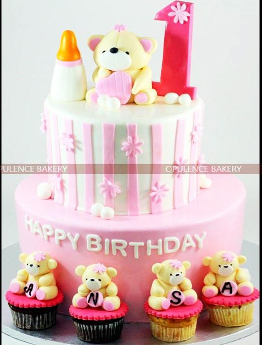 Teddy Bear Custom Fondant Cake