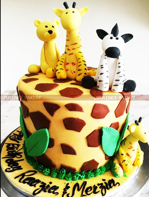 Animals Custom Fondant Cake