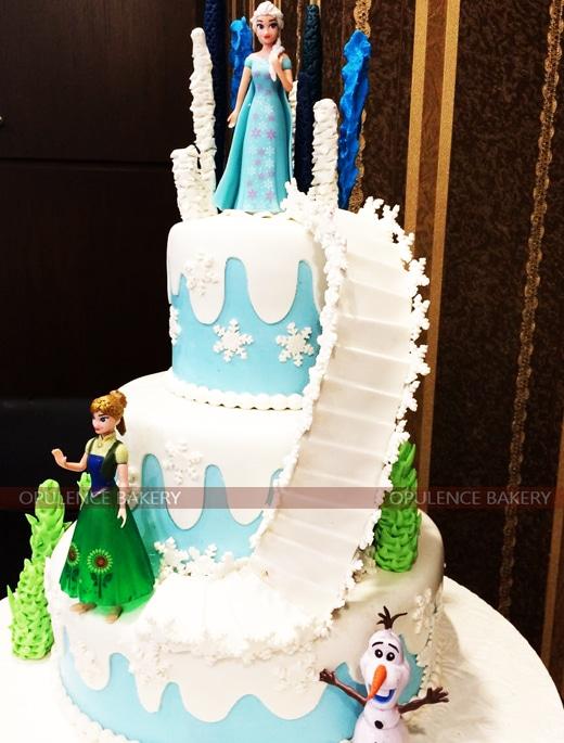 Elsa Anna Themed Custom Cake in 10 Pounds