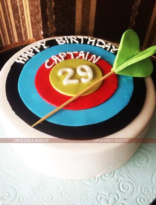 custom fondant cake for captains